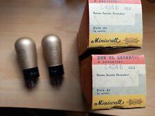Paire Miniwatt DarioE424N REN904 (Triode) TUBE LAMPE TSF NOS