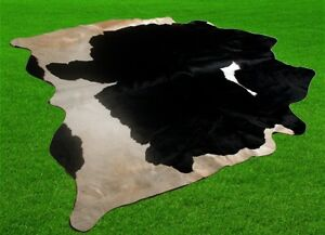 """New Cowhide Rugs Area Cow Skin Leather 24.17 sq.feet (59""""x59"""") Cow hide A-6723"""