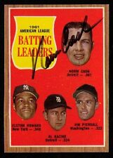 1962 Topps #51 Norm Cash Batting Leaders Detroit Tigers AUTOGRAPHED SIGNED!