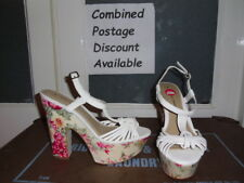 *NEW* DOROTHY PERKINS White Flower High Heel Shoes Size 6 Smart Casual Wedding