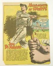 1940's Joe Dimaggio Highlights in Sports Comic Ad