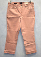NWT NYDJ NOT YOUR DAUGHTERS JEANS Marilyn Straight Pink Ankle Cuff Jeans Size 14