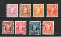 New Zealand 1909-16 values to 1s MM