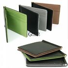 Mens leather Pockets ID credit Card holder Clutch Bifold money Clip Wallet TXGT