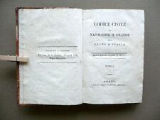 Codice Civile di Napoleone il Grande pel Regno d'Italia Milano 1806 Tomo I