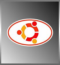"Ubuntu Linux Logo Vinyl Euro Decal Bumper Sticker      3"" X 5"""