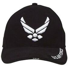 Air Force Black Wing Hat USAF Baseball Cap Ballcap Military Rothco 9384