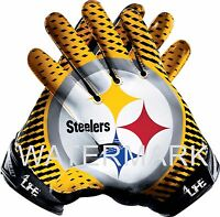 "Pittsburgh Steelers 6""x 5"" 4LIFE Car Truck Window Wall Vinyl Sticker Glove Decal"