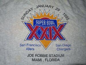 Lee Sport Super Bowl XXIX SAN FRANCISCO 49ers vs SAN DIEGO Chargers (XL) T-Shirt