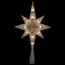 Star of Bethlehem Christmas Tree Topper - Clear Lights + replacement bulbs New