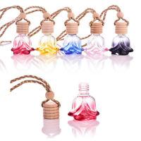 Luxury Air Freshener Car Hanging Diffuser Perfume Fragrance Empty Glass Bottle O