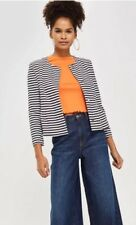 TopShop - Striped Cropped Lined Jacket - Size 12 - BNWT