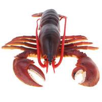 9 Inch Red Plastic Lobster Model Marine Animal Figure Kids Educational Toy