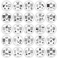 Silver Stamping Plates Nail Art Supplies