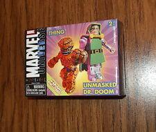Marvel Universe Minimates UNMASKED DR. DOOM / THING Chase Variant 2 pack! RARE!!