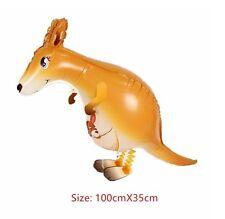 Walking Kangaroo Pet Balloon Animal Airwalker Foil Helium Kids Fun Party Toys
