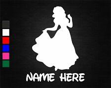 PERSONALISED NAME AND PRINCESS SNOW WHITE BEDROOM WALL/DOOR ART VINYL STICKER
