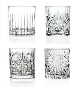 RCR Set of 4 Italian Crystal Luxion Mixology Tumblers Cocktail Whisky Glasses