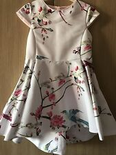 BNWT Ted Baker Girls' Light Pink Floral Print Dress Age 4-5 Years Old