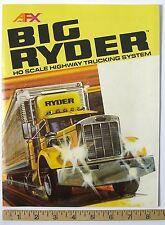 6-Side 1982 Aurora AFX BIG RYDER HIGHWAY TRUCKING SYSTEM Slot Car Catalog A++!
