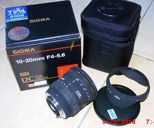 Sigma EX DC Objectivement Avec Pentax connecteur; 1:4-5-6; 10-20 mm, Digital (u0002)