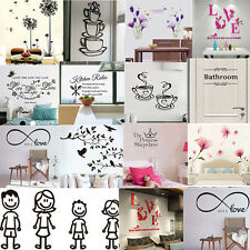 Family Vinyl Art Home Room Decor Wall Decal Stickers Bedroom Removable Mural DIY