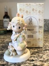 Precious Moments-Girl/Knitting-199 8 Limited Edition-My Love Will Keep You Warm