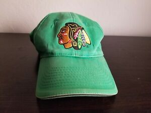 Chicago Blackhawks Hockey Hat Cap Miller Lite Beer Flexfit Green SGA Old School