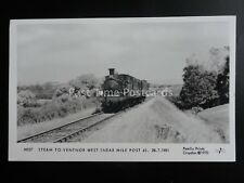 Isle of Wight Steam Loco VENTNOR WEST Mile Post 6 Pamlin Print Postcard M557