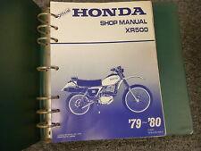 1979 1980 Honda Model XR500 Motorcycle Shop Service Repair Manual Book