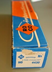 Train Ho Roco 12 Rail Curve R 415 30° Original Box Ref 4430 Nickel