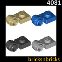 Modified 1 x 1 with Clip Light LEGO 4081 Plate Thick RingVarious Colours