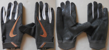 Nike Men Vapor Elite Batting Gloves Anthracite/White/Metallic Red Bronze Size L