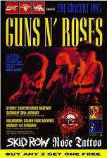 GUNS N ROSES 1993 Laminated Australian Mini Tour Poster