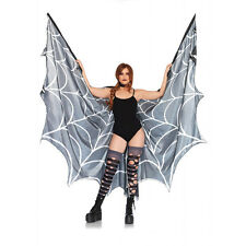 Adult size Black and White Festival Spiderweb Wings - Spider Web fnt