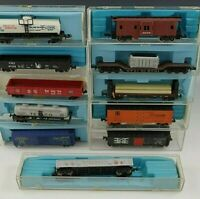 11 ATLAS CARS REEFER CABOOSE HOPPERS GONDOLA TANK N SCALE