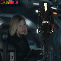 Avenger 4 Endgame Black Widow Cosplay Costume Jumpsuit Halloween Suit