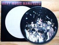 EX/EX! ROXY MUSIC MANIFESTO VINYL PICTURE PIC DISC LP BRYAN FERRY