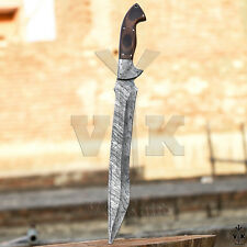 Handmade Damascus Steel Hunting Sword Knife Micarta Handle VK2132