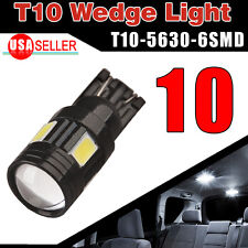 10X High Power White Projector Lens T10 Wedge 6SMD Backup Reverse LED Light Bulb