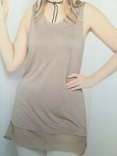 Sheego Damen Top-Shirt taupe Gr. 46 NEU