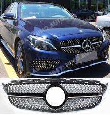 Mercedes C w205 saloon,estate BLACK/DIAMOND/ONE FIN grill,AMG C43 look,c200,c220