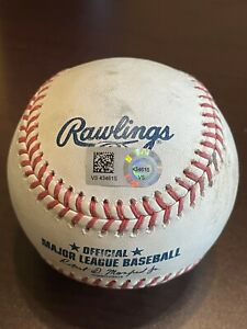 6/9/21 Brewers@Reds Joey Votto Game Used Ball Eric Lauer