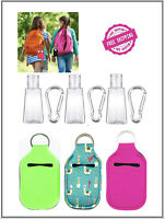 3 Pieces Empty Travel Size Bottle with Keychain Holder, Reusable Travel Size Key