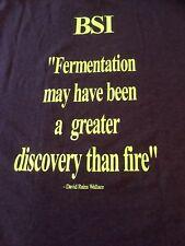 BSI Brewing Science Fermentation Yeast Davis Rains Wallace  Brown T Shirt L
