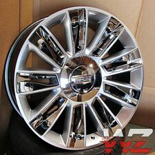 "22"" Platinum Style Silver Chrome inserts Wheels Fits Cadillac Escalade EXT Chevy"
