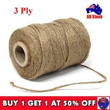 100m Soft Natural Jute Hessian Burlap Rustic Twine Sisal String Cord Party Decor