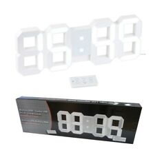 Super Design 3D XXL Wanduhr Tischuhr Uhr 7 Segment Ziffern Wohnung Büro Geschäft