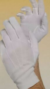 WHITE PINTUCK ADULTS GLOVES