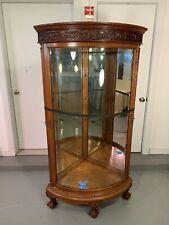 New listing Original Geo. Flint 1880- 1890 Oak Corner Cabinet Original Super Clean Finish